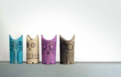 toilet paper owls ... #DIYin5