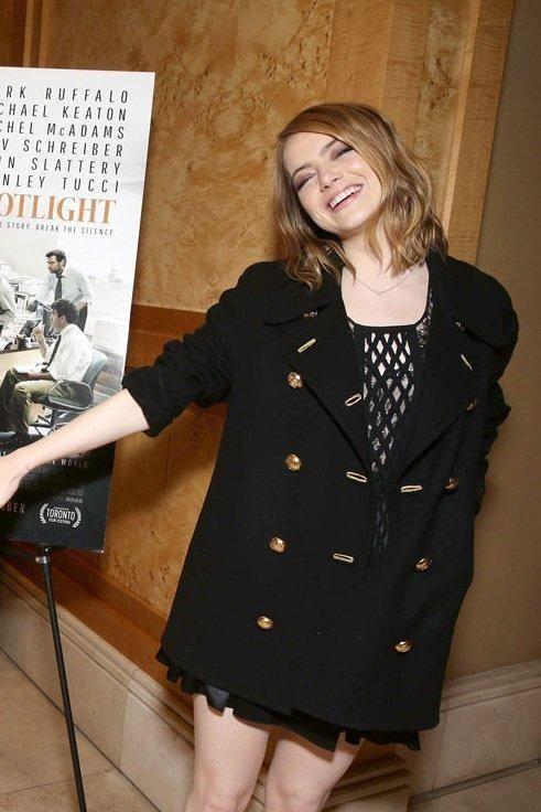 Emma Stone Open Road Films Spotlight Special Screening December 02, 2015 | Star Style