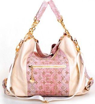 Louis Vuitton 2012 Pink Snake skin Handbag <3