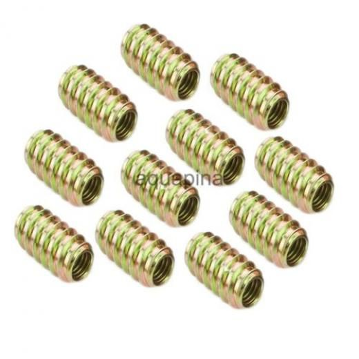 10pcs M8*18 Wood Insert Interface Screws Threads Bolts Building Materials Iron China As Picture Show