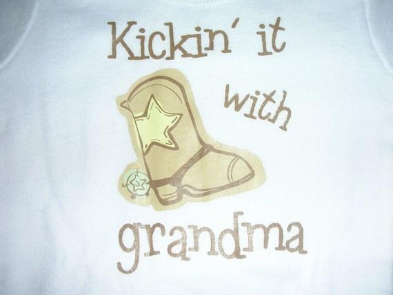 kickin it with grandma onesie