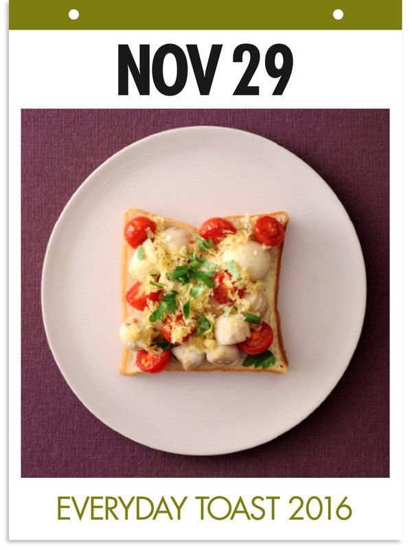 11月29日 「たらトマトトースト」 【使った材料】たら、パン粉、にんにく、プチトマト、オリーブオイル、塩、こしょう