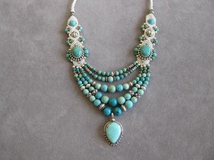 Isha Elafi Five Strand Necklace
