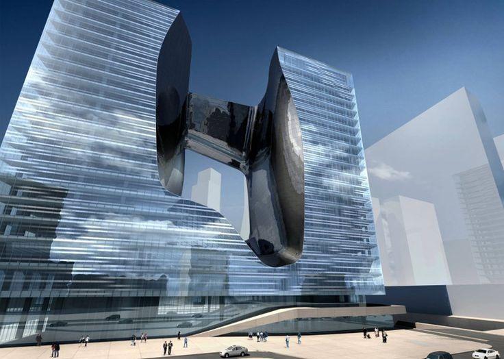 자하가 작 건물 두바이 디자인 붐에 멜리아 디자인으로 ME를 하디드