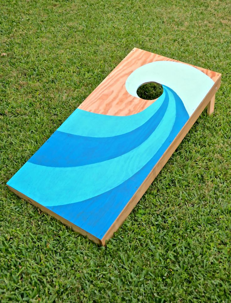 diy totally tubular corn hole game girl with a surfboard why didnt i think of that diy pinterest corn hole game corn hole and surfboards - Cornhole Design Ideas