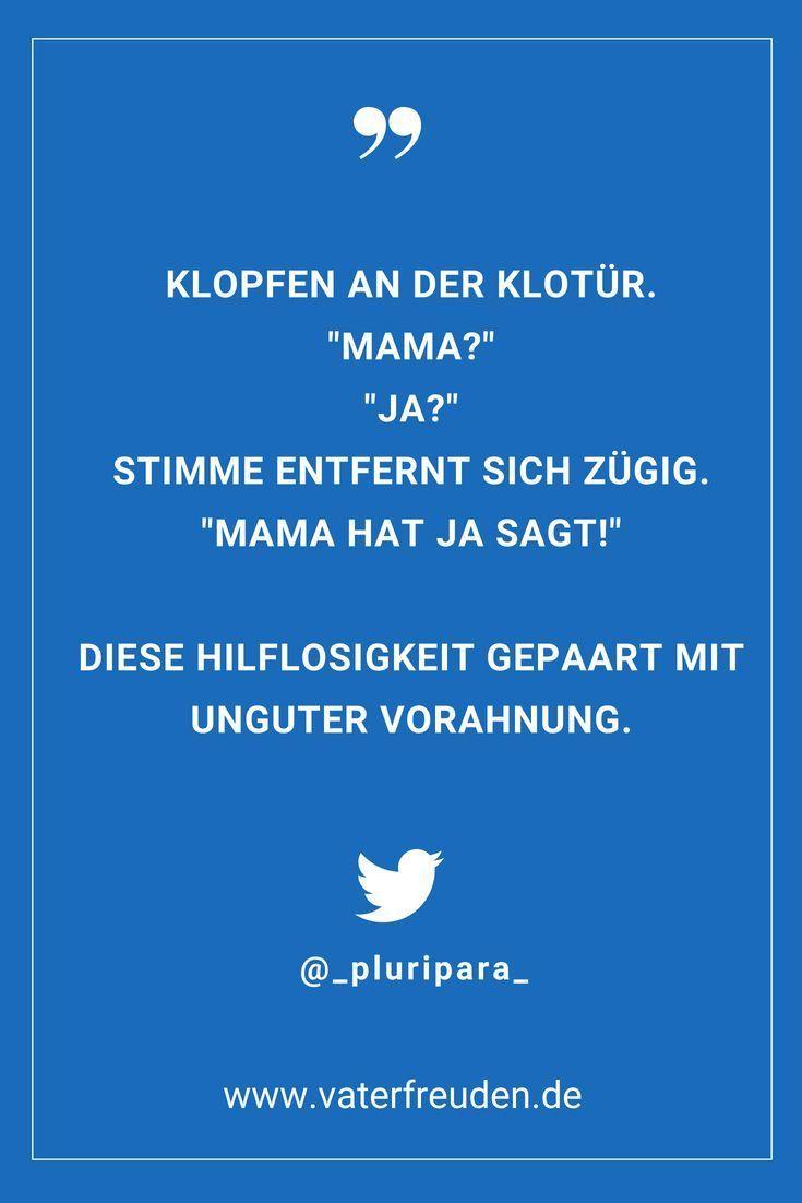 die Vorahnung ;-)      Ein lustiger Twitter Spruch rund um das Leben mit Kindern…
