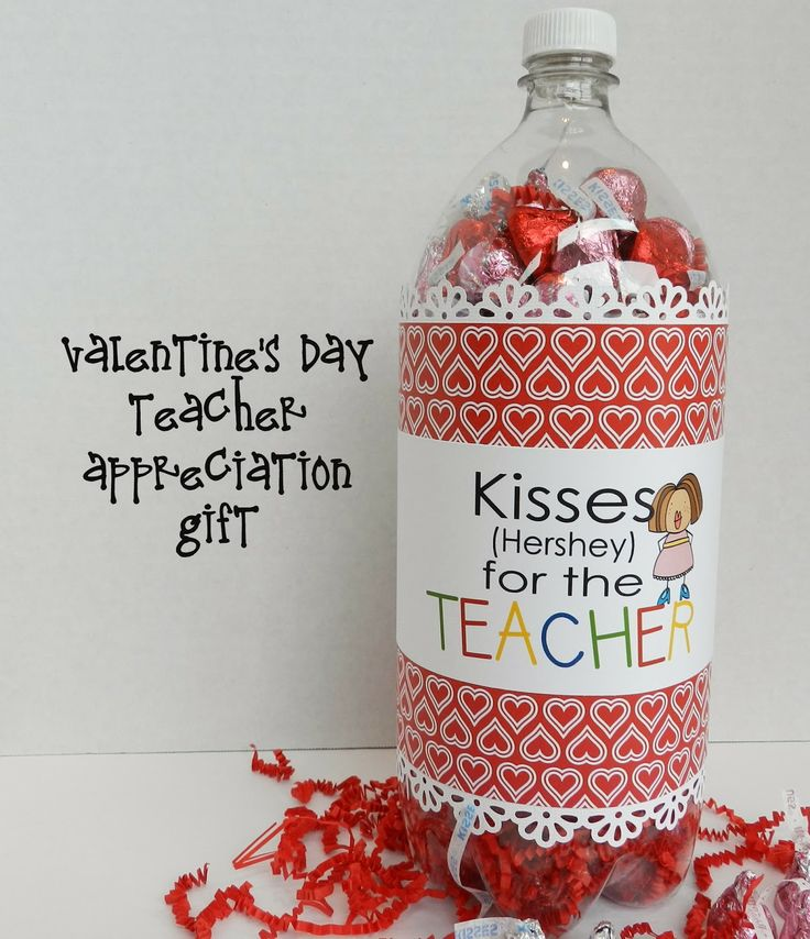 It's Written on the Wall: 8 Valentine's Day Themed Teacher Appreciation Labels (Soda bottle) and 3 Gift tags-Super Simple Gift!