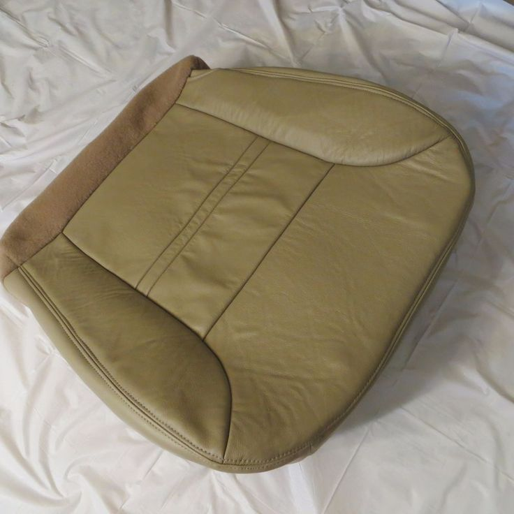 2000 2001 01 Ford Excursion Limited XLT Passenger Bottom Leather Seat Cover Tan