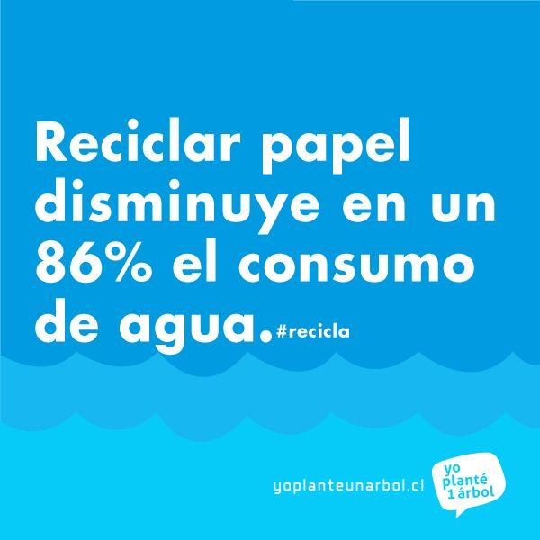 El #reciclaje del papel disminuye en un 86% el consumo de #agua y en un 65% el de #energía