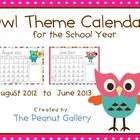 These owl theme calendars are perfect for the classroom (I have used mine for behavior stars, homework stars, etc.) or even to include in your own teacher files.