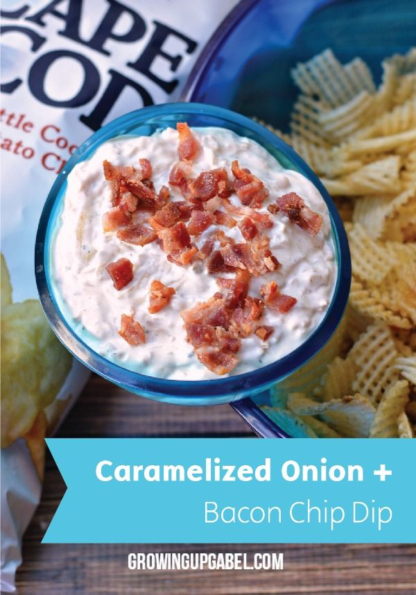 Throwing a party? There's no need for a store-bought appetizer here. Make your own Caramelized Onion and Bacon Homemade Chip Dip with a few simple ingredients.