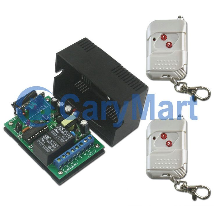 2 Channel RF Wireless Remote Control with Power-Off Memory Function AC 220V
