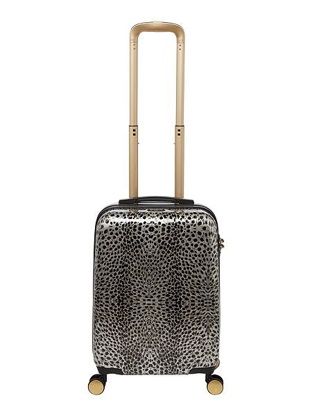 Animal print 8 wheel hard cabin suitcase