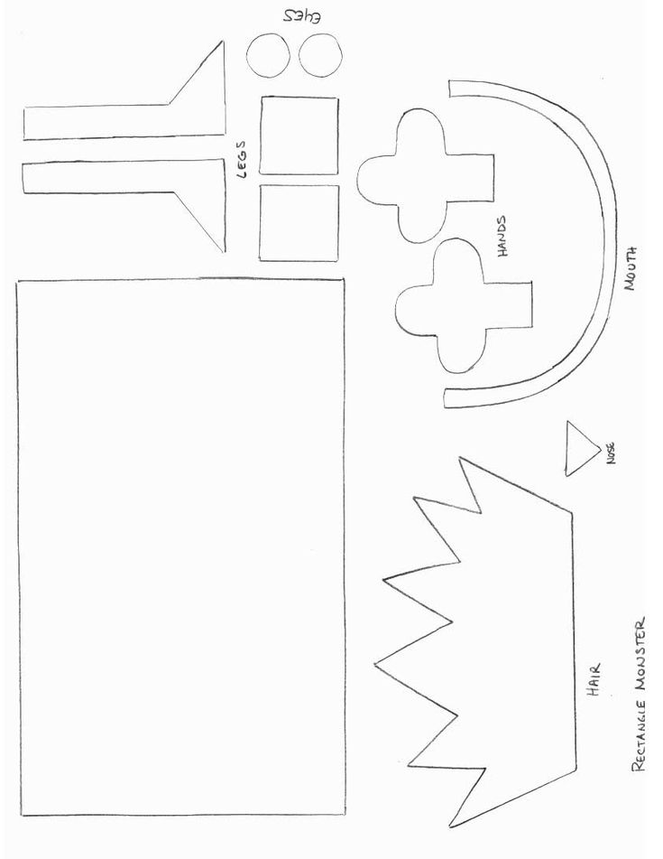 Making Monsters With Shapes Worksheets : Best images about shapes pre k on pinterest