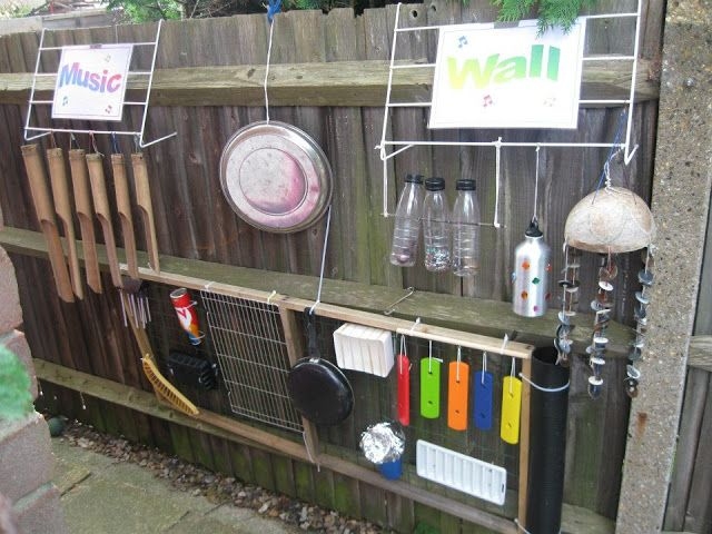 """Loving Cathy's Child Minding's music wall - shared by let the children play ("""",)"""