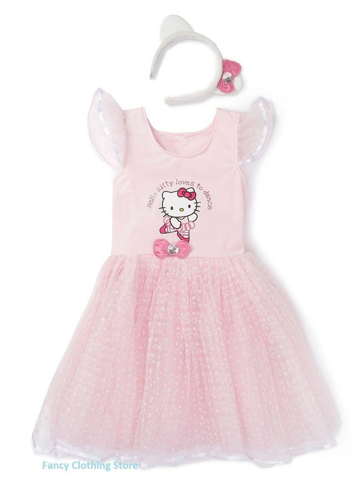 Hello Kitty Pretty Pink Ballerina Tutu Dress Fancy Dress Costume Play Headband   Girls' Fancy Dress   Fancy Dress - Zeppy.io