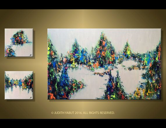 Landscape painting 66 Modern Abstract Colorful by studiox26