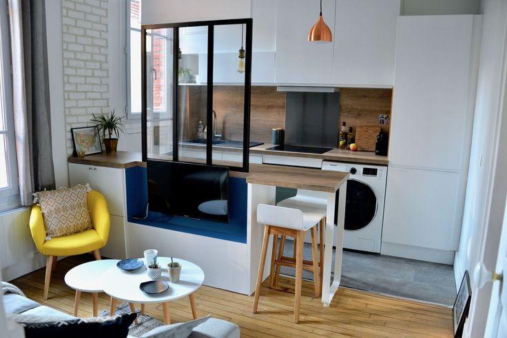Cuisine avec verrière cuisine Pinterest - prix construction maison 150m2