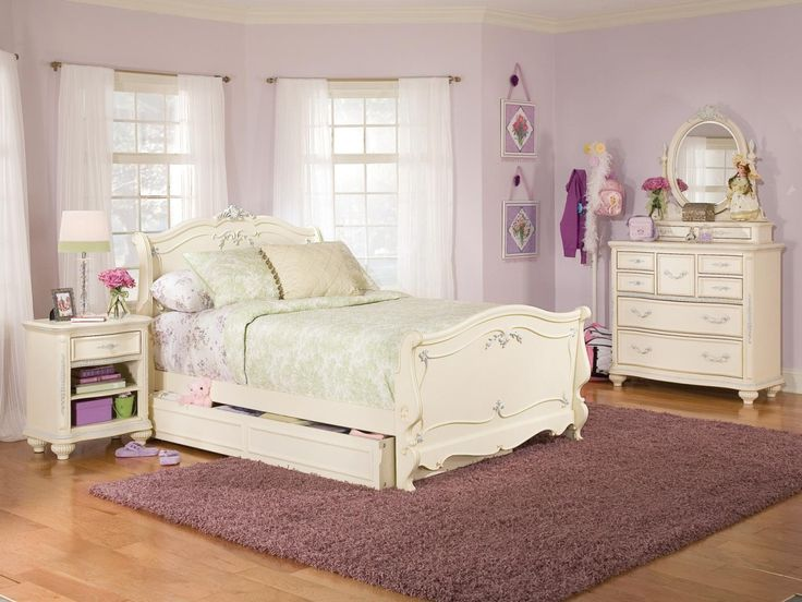 White Furniture, White Bedroom Unique Furniture For Girls With Beautiful Table Lamp And Mirror Transparent Curtain Light Purple Wall Painting Color Ideas Best Solid Hardwood Flooring Under Soft Carpets Modern Design: White Bedroom Furniture for Girls Elegant Design with Wood Desk, Mirror and Cupboard Unique Lighting Hanging Best Neutral Wall Painting Color Ideas White Laminate Wood Flooring and Yellow Curtain