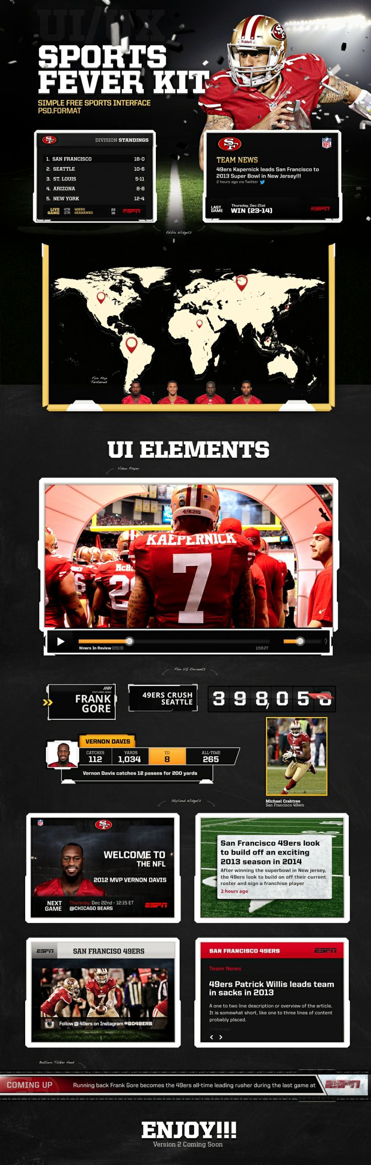 Sports Fever - Free UI Kit