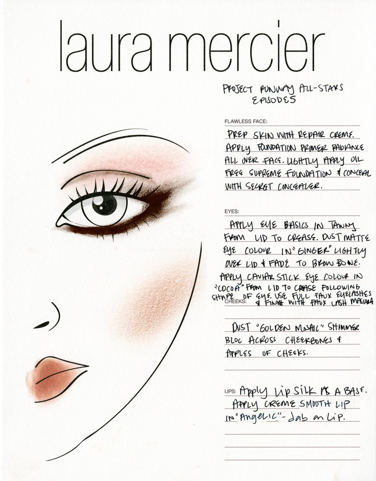 Episode 5 The Laura Mercier Face Chart For This Week S Winning Look Repin If