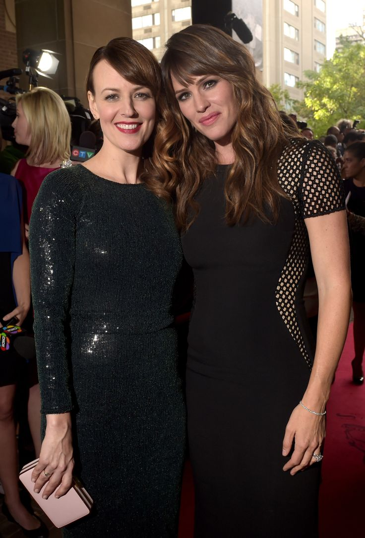 Rosemarie DeWitt and Jennifer Garner attend the #TIFF14 premiere of Men, Women & Children. (Photo: Getty Images)