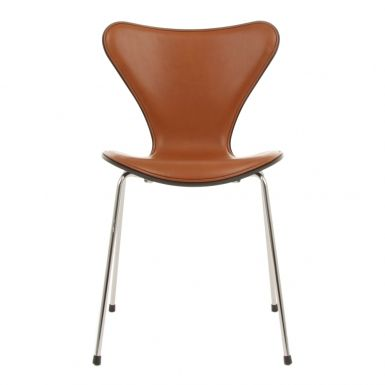 Series 7™ Front Upholstred Elegance Leather Walnut #classic #icon #design #danish #arnejacobsen #fritzhansen