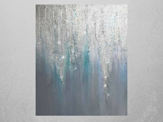 Sold Abstract Glitter Art On Canvas Silver Glitter Etsy In 2021 Glitter Art Glitter Wall Art Glitter Canvas