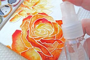 Splitcoaststampers - Tutorials...gorgeous watercoler with dry embossing...Manhattan Rose embossing folder...