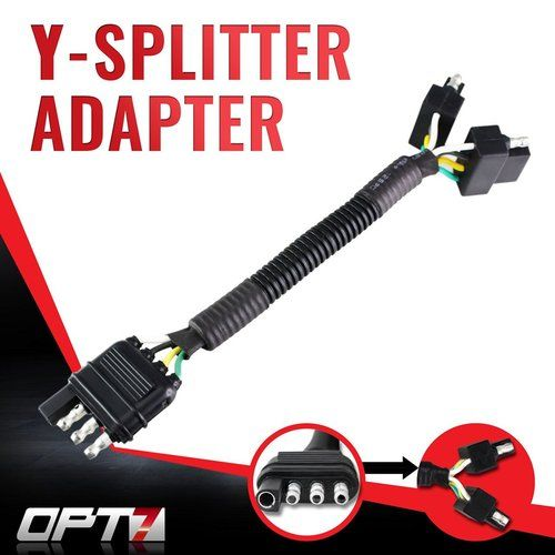Y-Splitter 4 Tow Pin Connector Adapter Harness Wiring for Truck Tailgate