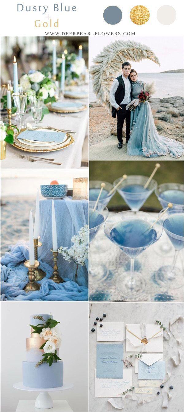Top 10 blauwe bruiloft kleurenpaletten waar we dol op zijn voor 2019