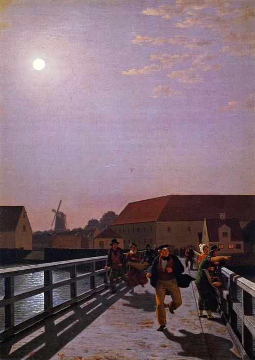 """Long Bridge, Copenhagen in the Morning"", 1836, Christoffer Wilhelm Eckersberg."