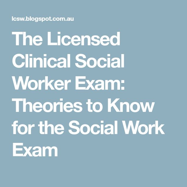 58 best social work ideas images on pinterest psychology the licensed clinical social worker exam theories to know for the social work exam fandeluxe Images