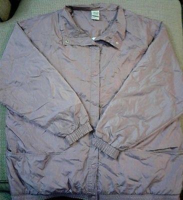 Womens Size 2x Haband Windbreaker Jacket Nylon Light Mint Green lined xxl