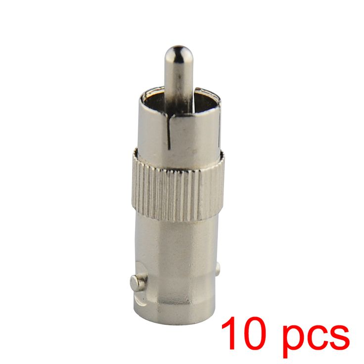 10x RCA Male to BNC Female Jack Connector Adapter Coupler Plug for CCTV Camera