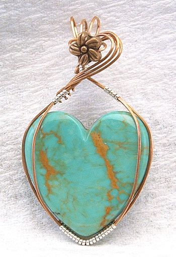 Turquoise Heart  (inside the stone/turquoise/copper ore which appears to be similar to arteries and veins .