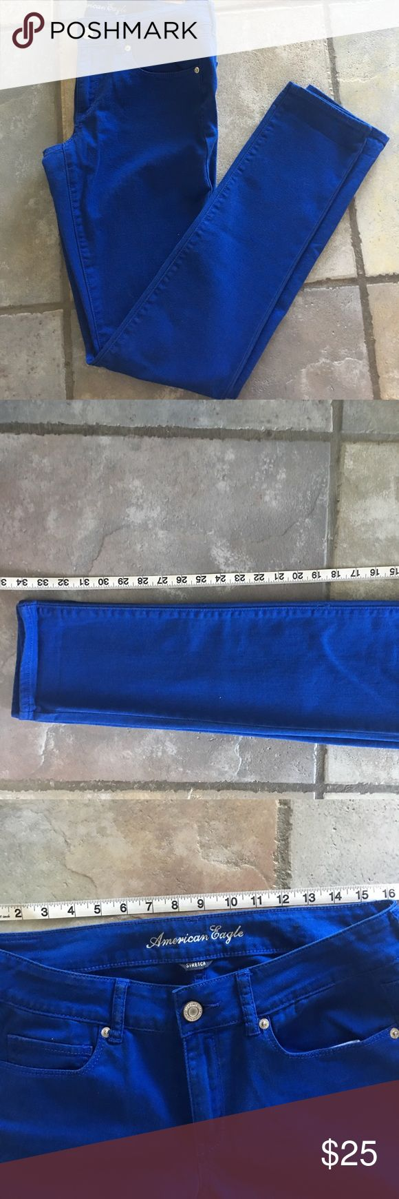 American Eagle skinny pants size 12 extra long American eagle blue skinny pant size 12 extra long by American Eagle. Waist and inseam measurements picture. I do offer discounts on bundles. American Eagle Outfitters Pants Skinny