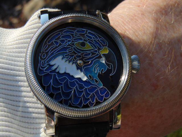 Eagle - enamel cloisonne dial. Leszek Kralka