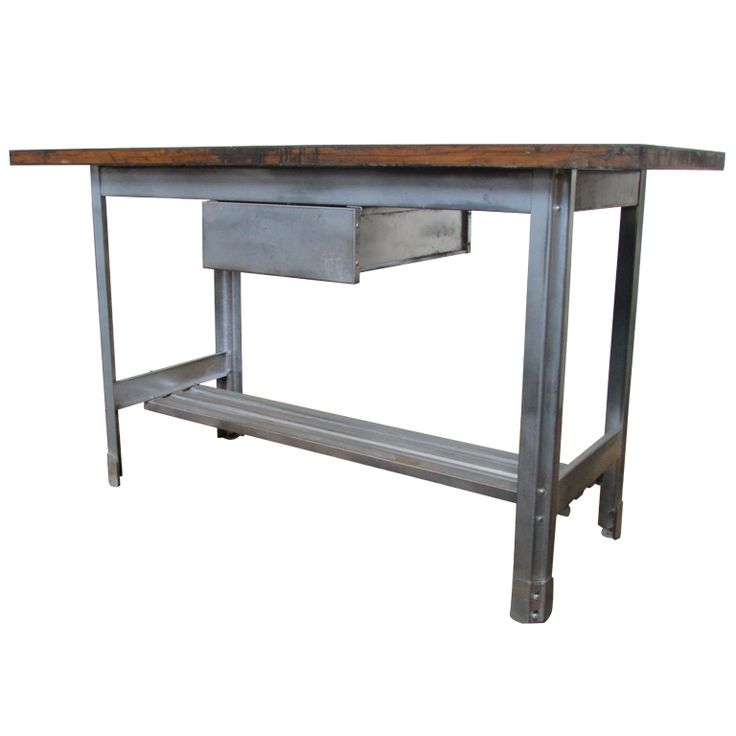 Kitchen Steel Table 14 best industrial steel tables images on pinterest homes industrial kitchen work table at 1stdibs workwithnaturefo