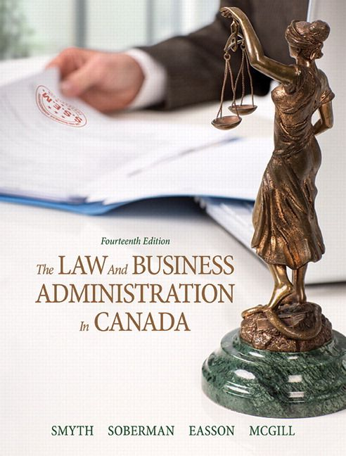 Law and Business Administration in Canada Canadian 14th Edition Smyth Test Bank test banks, solutions manual, textbooks, nursing, sample free download, pdf download, answers