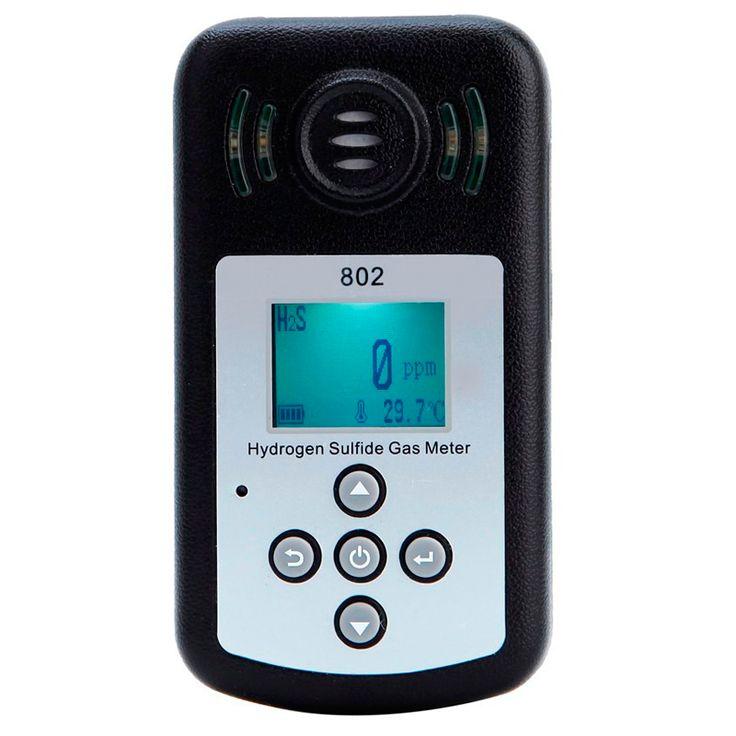 KXL-802 LCD Display Hydrogen Sulfide Gas H2S Meter Gas Analyzer Detector Temperature Measurement Alarm Value Settable