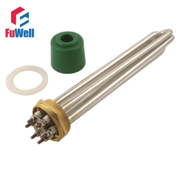 Stainless Steel 2 Inch Copper Head Heating Tube 220V 9KW DN50 Electric Heater Pipe Water Boiler Heating Element