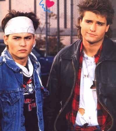 Johnny Depp Peter DeLuise As sexy as ever