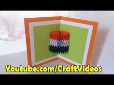 How to make National Flag of India 3D Card | Independence Day cards | Republic Day Card - YouTube