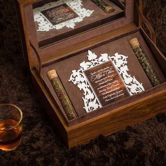 Beautiful Indian Wedding Invitation Box With Favours
