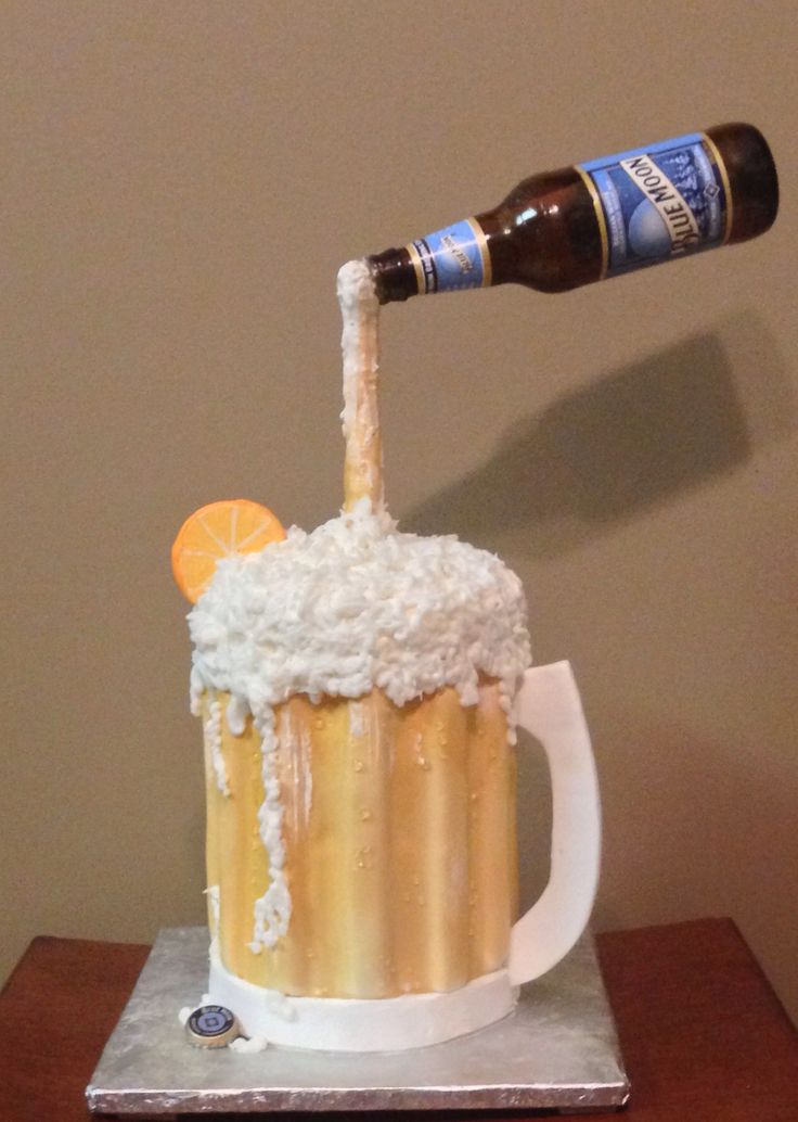 Beer Cake Design Ideas : Blue moon beer mug cake My Cake hobby Pinterest Mug ...