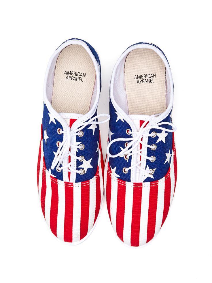 American Flag Tennis Shoes. #AmericanApparel