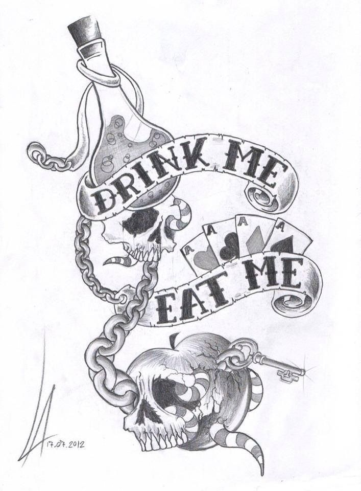 #alice eat me, drink me. Would make a great tattoo ... | 707 x 960 jpeg 85kB