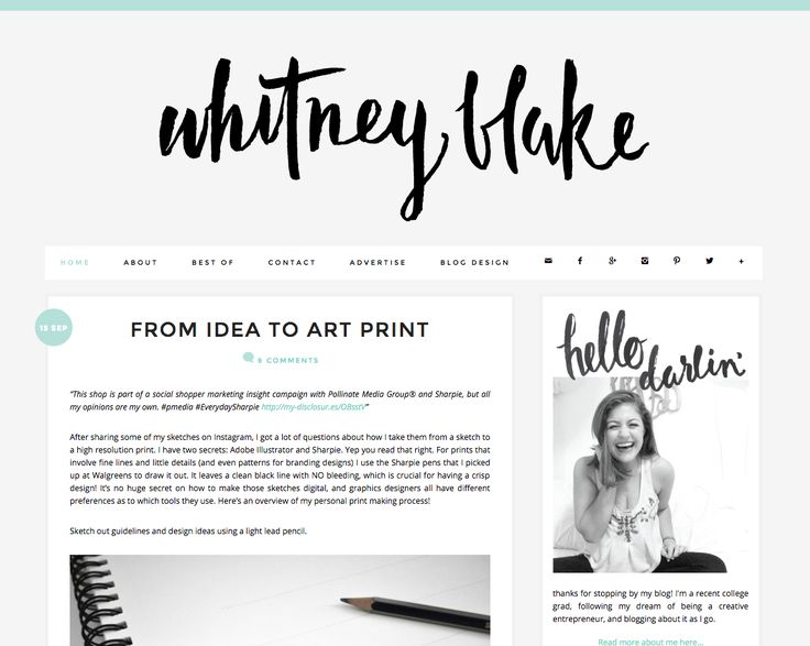 Blog design and layout inspiration whitney blake blog for Decorating blogs