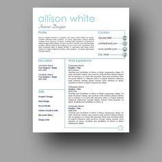 Love the modern clean resume design. I want I want